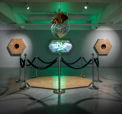 Halal on the Dance Floor - a Sculpture & Installation Artowrk by Mohammad  Alhemd